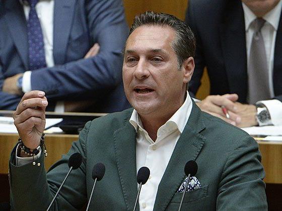 FPÖ-Chef Heinz Christian Strache tat seine Meinung in der Asylfrage kund
