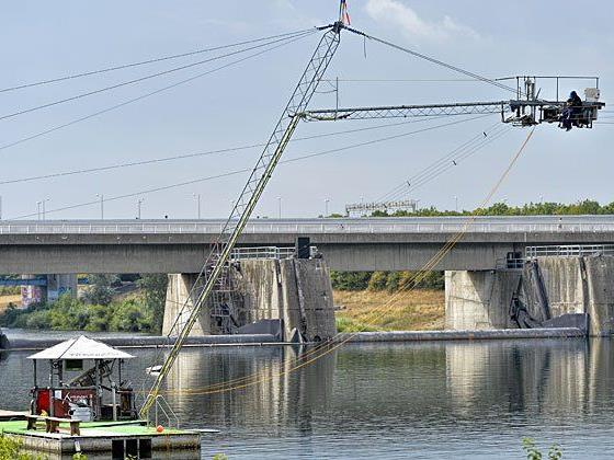 Der Wakeboard-Lift in Donaustadt