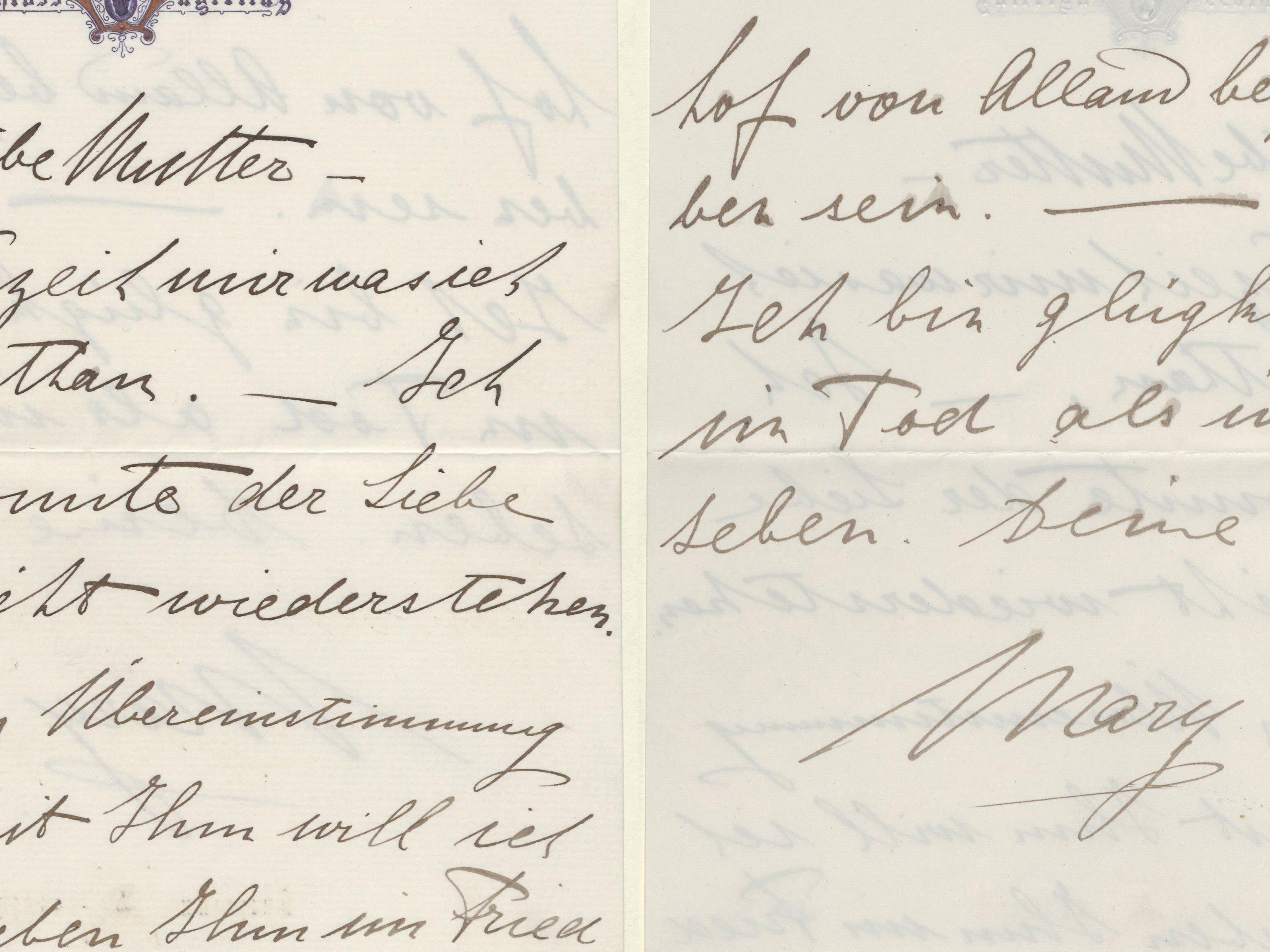 """Abschiedsbrief von Mary Vetsera: """"Ich konnte der Liebe nicht widerstehen."""""""