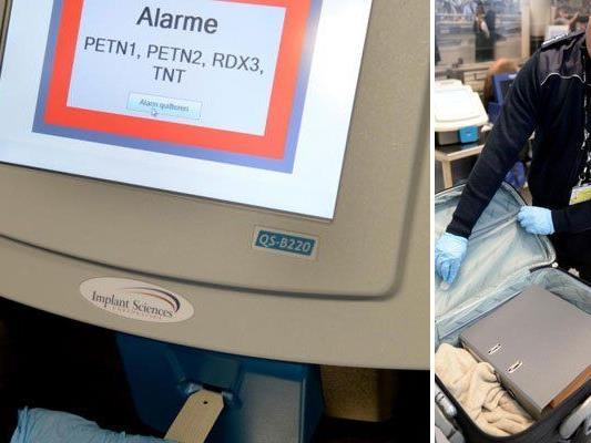 Neue Formen der Sicherheitskontrollen am Flughafen.