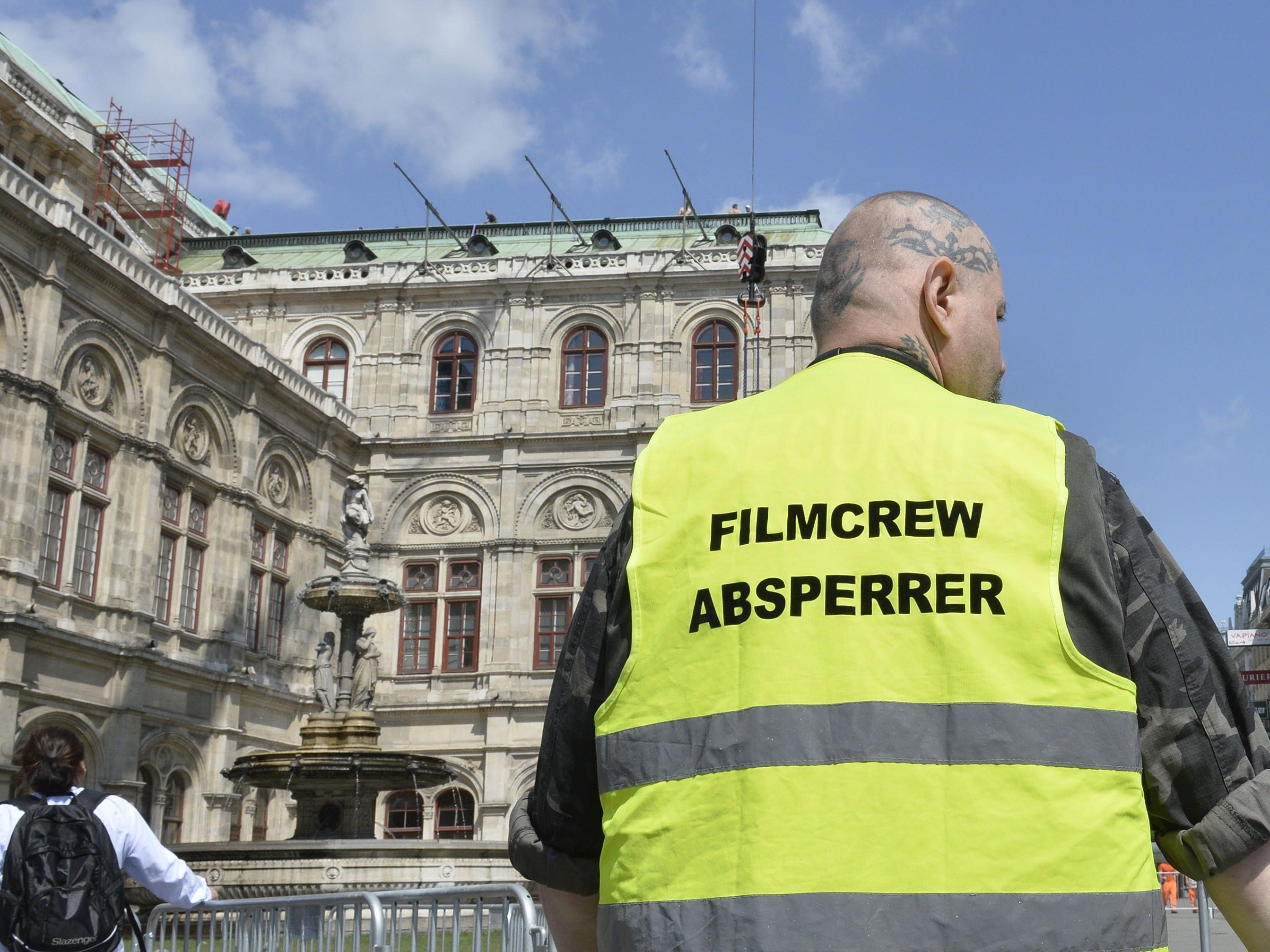 Viele Straßensperre in Wien