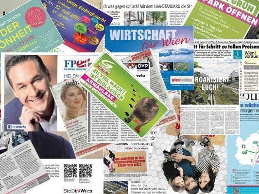 Das wird inseriert: Wahl-Werbung, Promotionberichte und Eigenwerbung für Behörden.