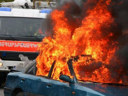 Die Feuerwehr konnte den Pkw-Brand rasch löschen.