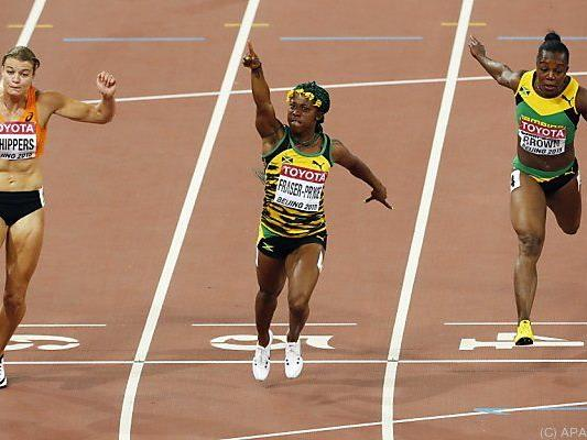 10,76 Sekunden benötigte die Titelverteidigerin für die 100 Meter