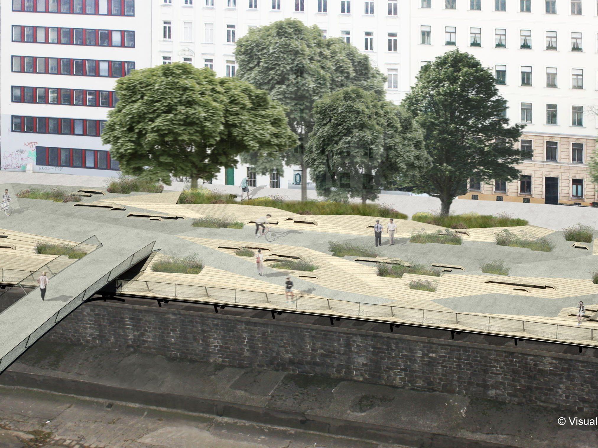 Die Wiental-Terrasse wird eröffnet.