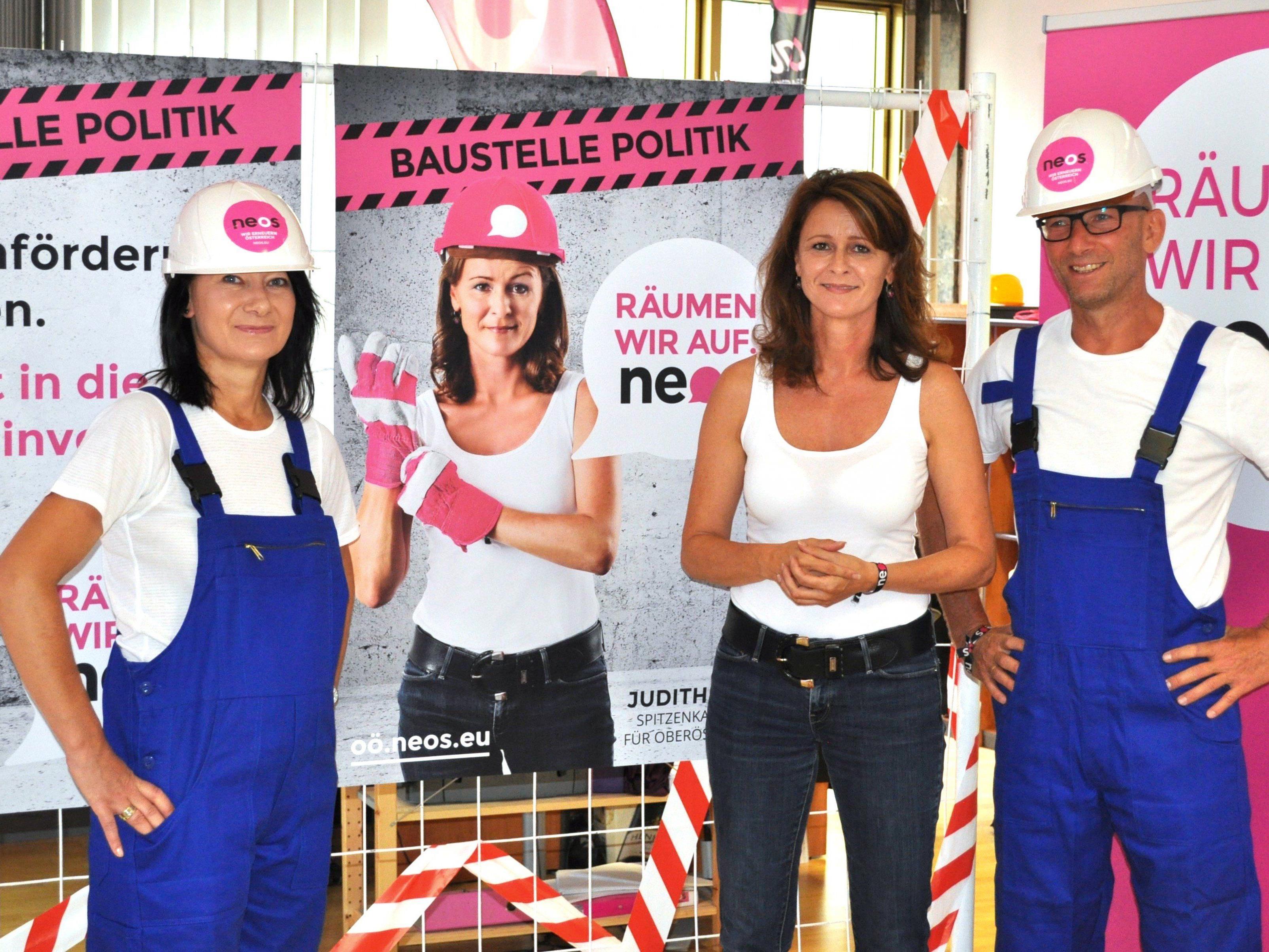 Die NEOS wollen in den oberösterreischischen Landtag einziehen.