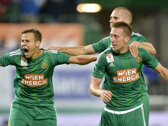 Rapid Wien jubelte nach dem Hinspiel gegen Ajax Amsterdam.