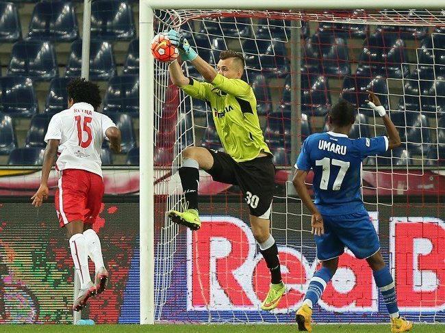 Salzburg scheiterte heute vor allem an Torhüter Gutor.