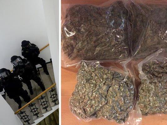 Die mutmaßlichen Drogendealer wurden bei einem Cobra-Einsatz gefasst