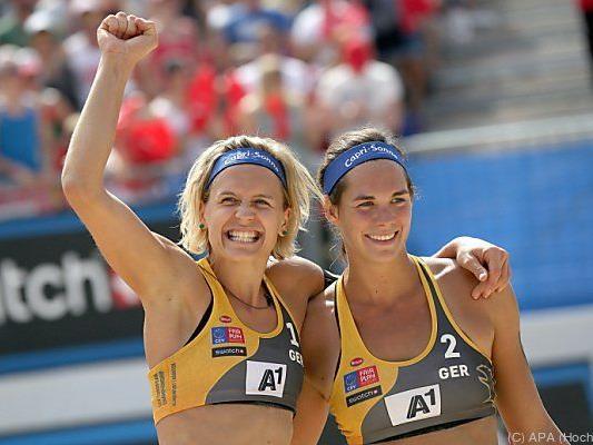 Die strahlenden Siegerinnen bei der Volleyball-EM in Kärnten.