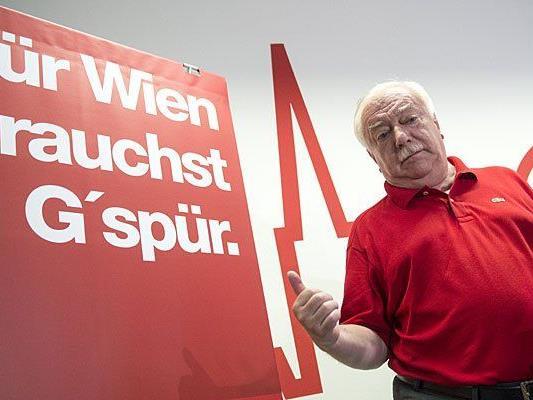 Wiens SPÖ-Chef und Bürgermeister, Michael Häupl, im Rahmen der Präsentation der Wahlkampfzentrale der Wiener SPÖ