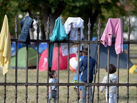 Flüchtlinge im Erstaufnahmezentrum Traiskirchen