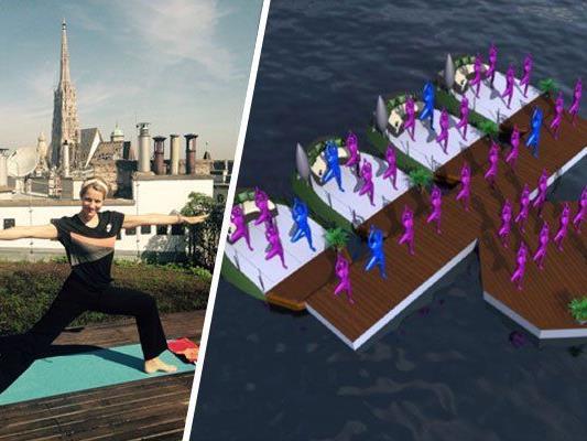 """""""Floating yoga sessions"""" finden auf der Alten Donau statt"""