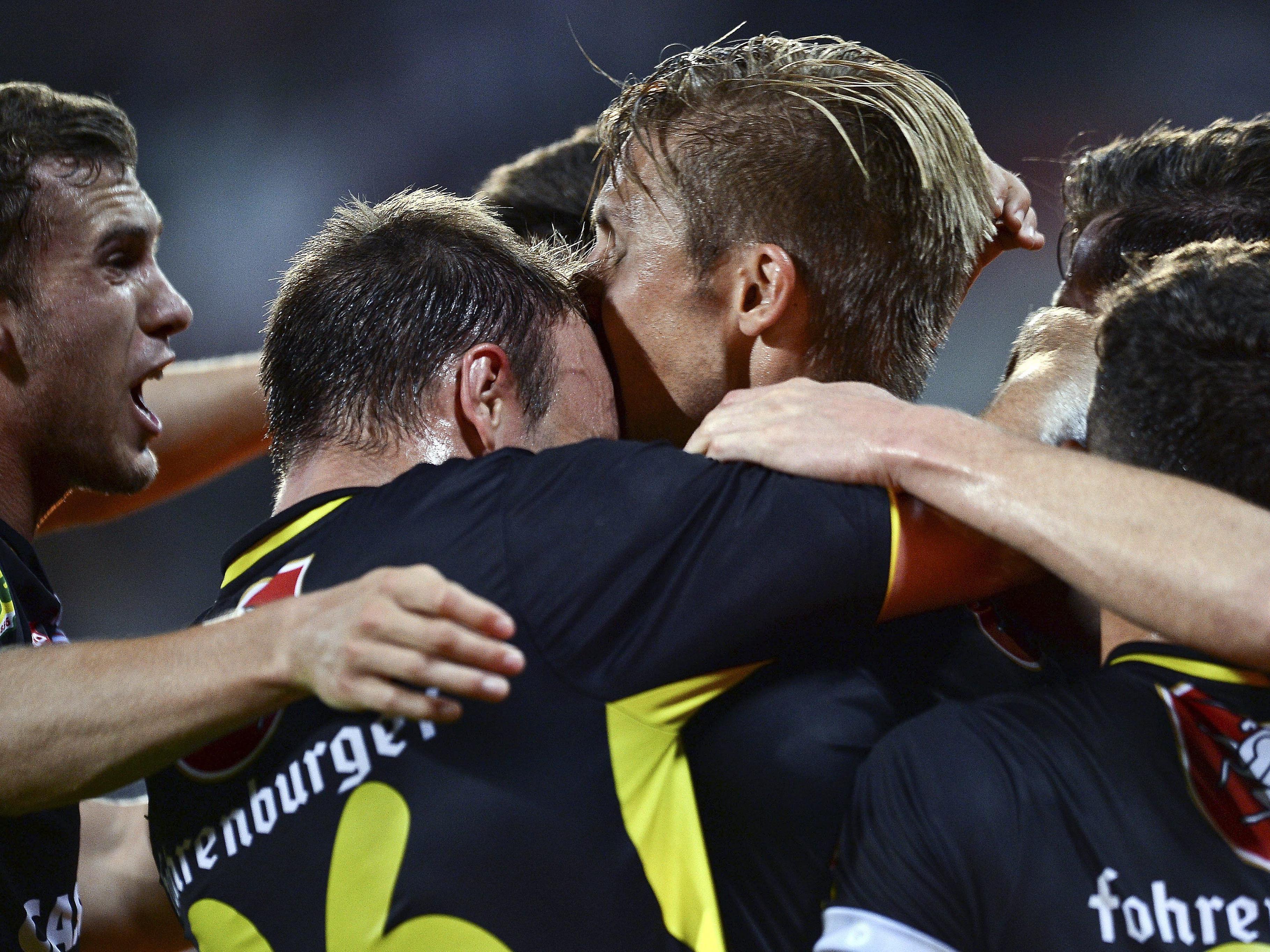 Die Vorarlberger bestreiten ihr erste Duell mit Belenenses Lissabon am Donnerstag, 20. August, im Innsbrucker Tivoli-Stadion um 20.30 Uhr.