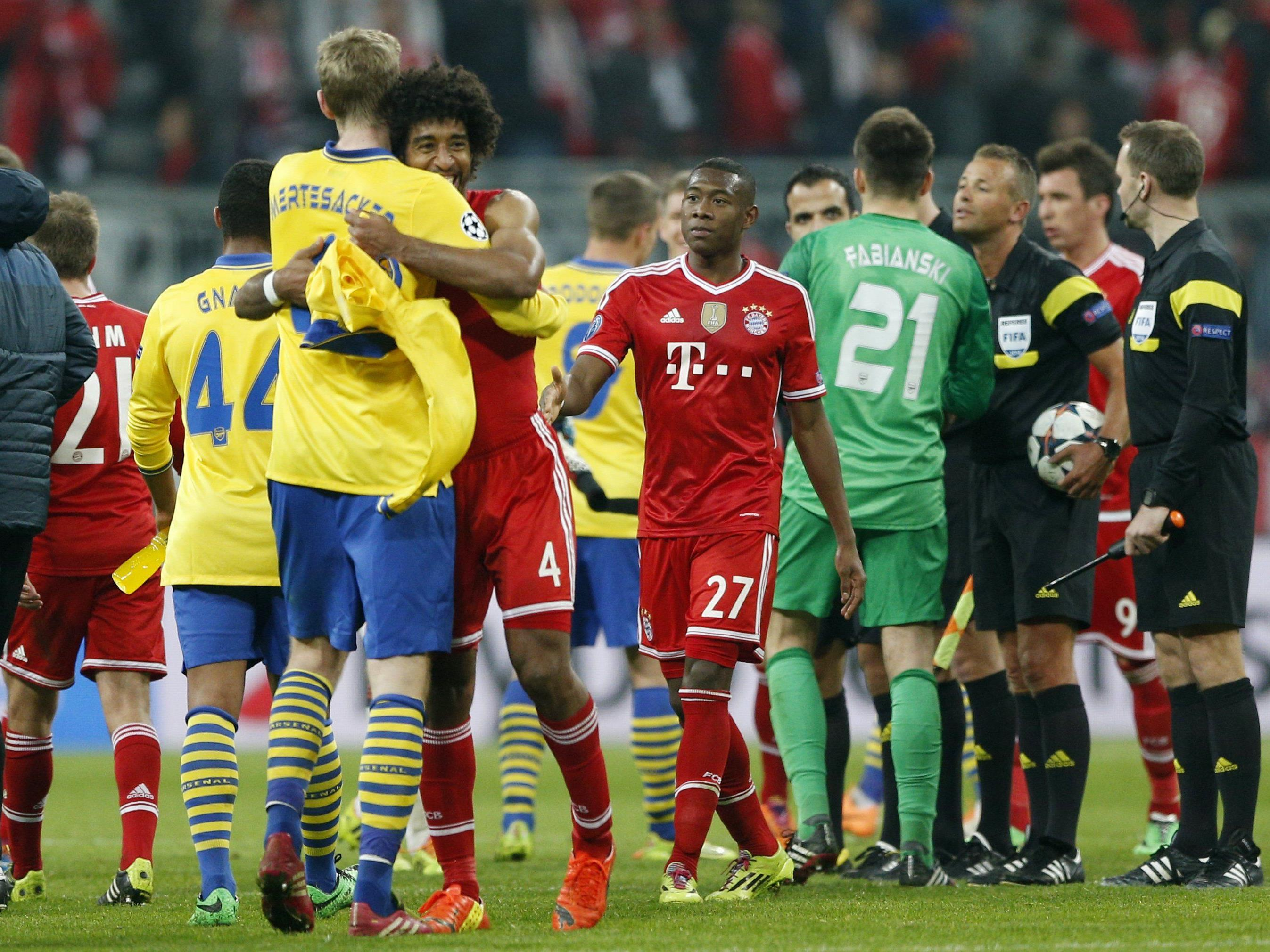 Alaba mit Bayern gegen Arsenal, Olympiakos und Dinamo Zagreb.