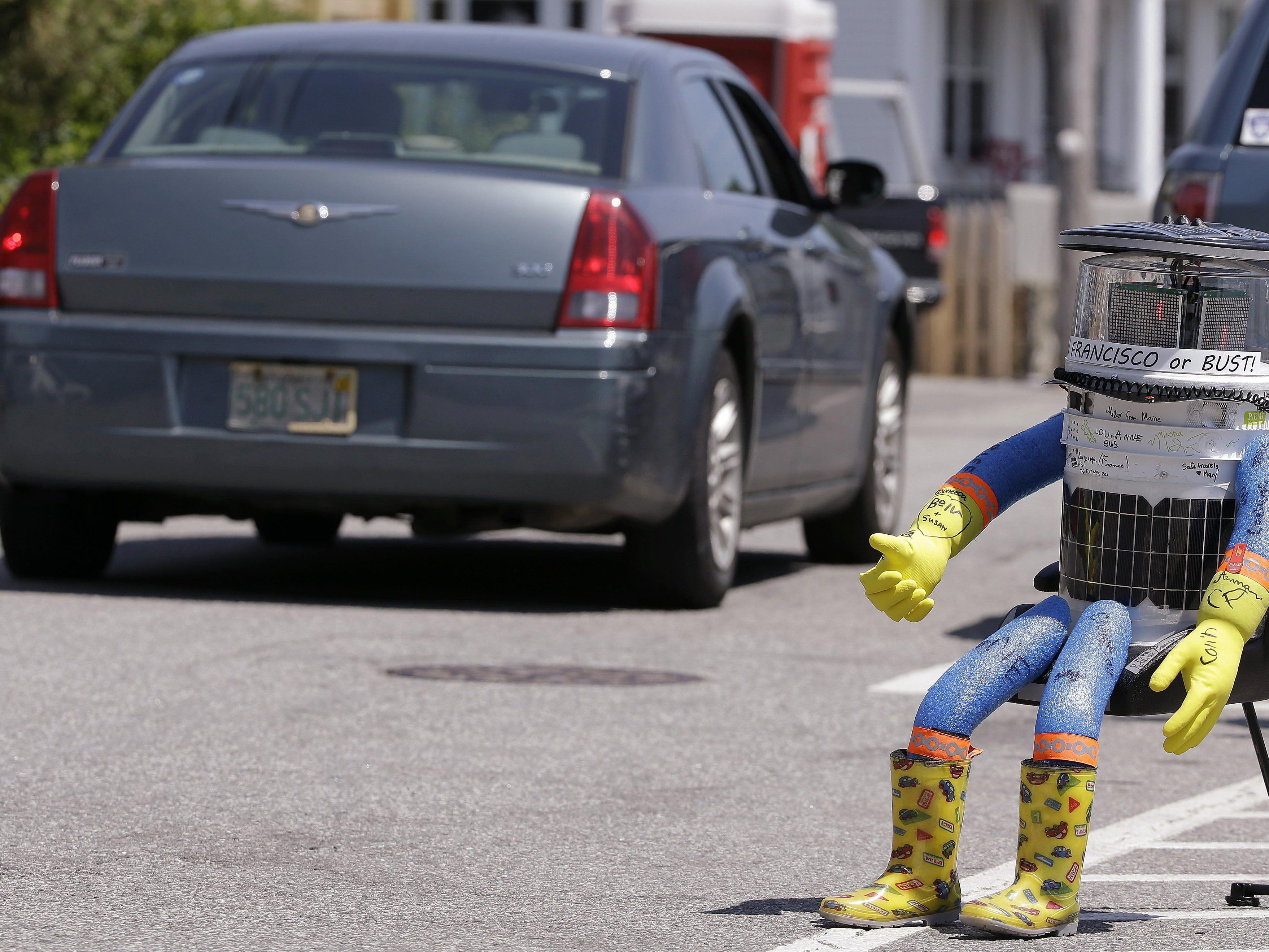 Hitchbot wurde in Philadelphia zerstört