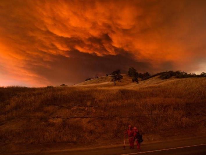 Heftige Waldbrände wüten in Kalifornien.