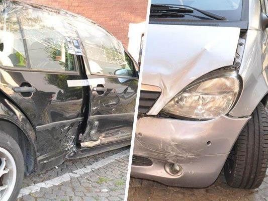 Zusammenstoß in Kreuzung - Blechschaden und leicht Verletzte