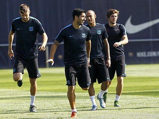 Suarez und Neymar wollen den verletzten Messi gut vertreten