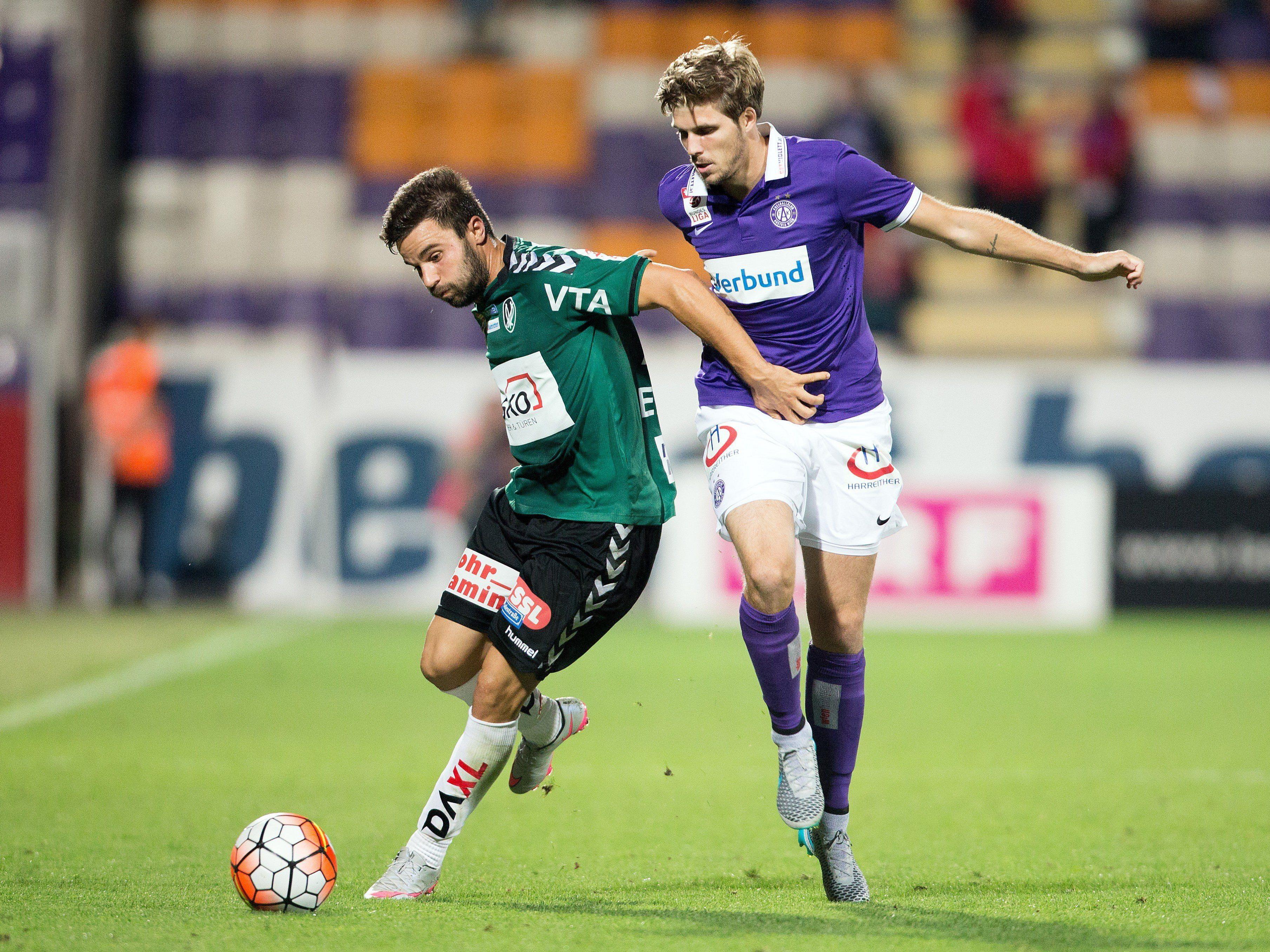 Endstand des Spiels Austria gegen Ried: 1:1.