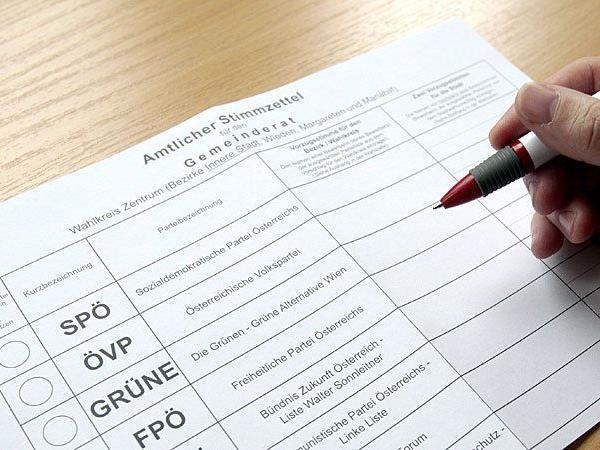 Wer auf den Stimmzettel für den Wiener Gemeinderat kommt, steht nun fest