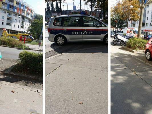 Bilder vom Einsatz in Wien-Floridsdorf.