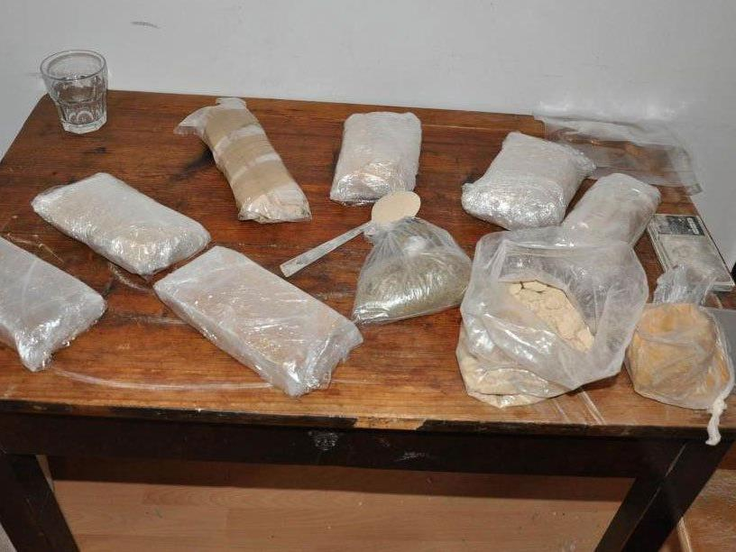 Teil der gefundenen Drogen.
