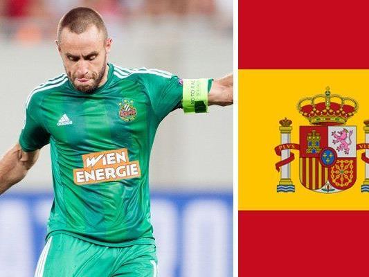 Steffen Hofmann trifft mit Rapid im Europacup erstmals auf einen spanischen Klub.