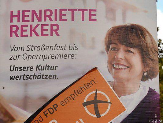 Reker wurde von CDU, FDP und Grünen unterstützt