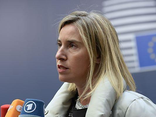 Mogherini stellt Sanktionen in Aussicht