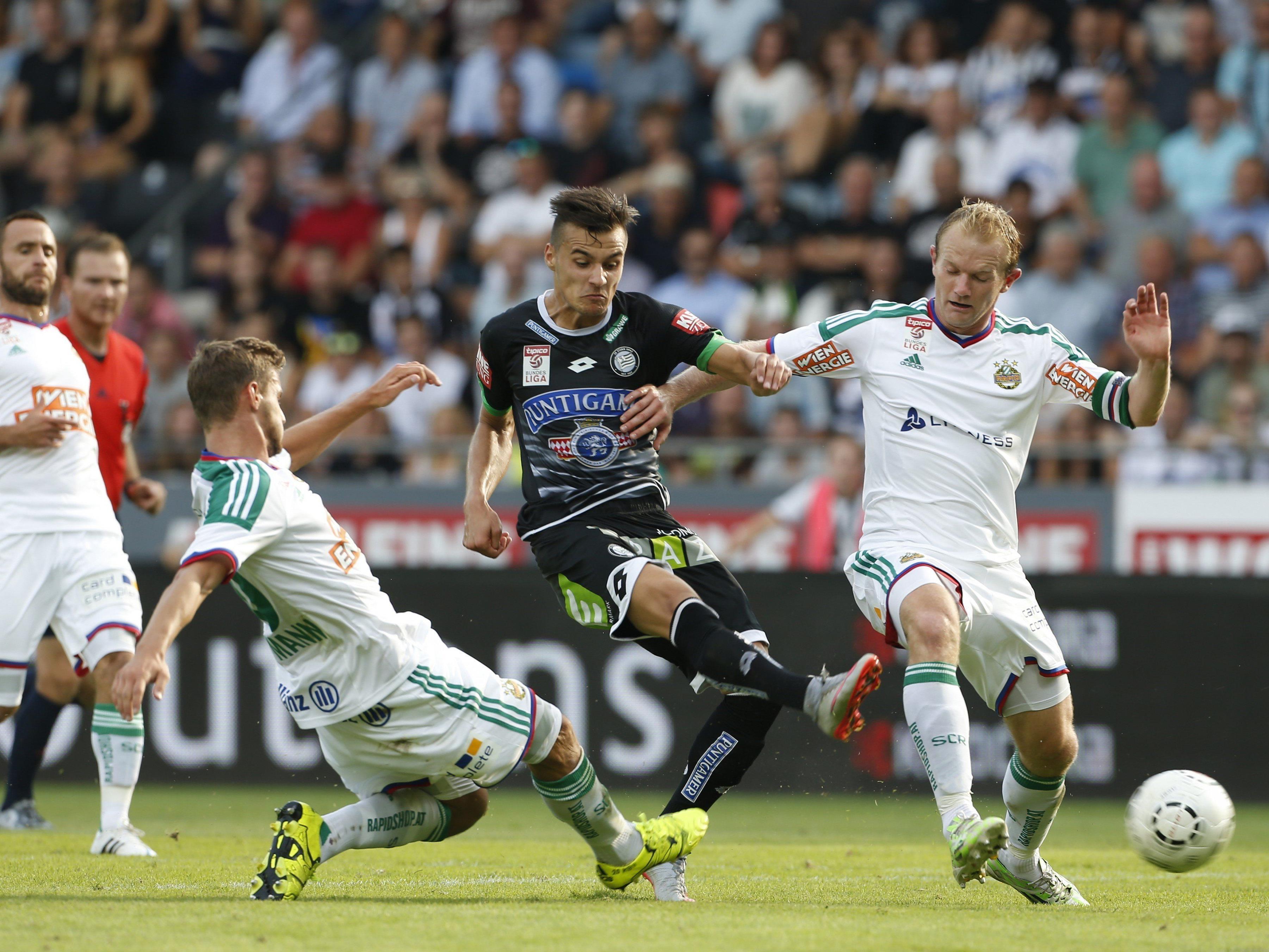Rapid und Sturm Graz treffen im Happel-Stadion aufeinandern.