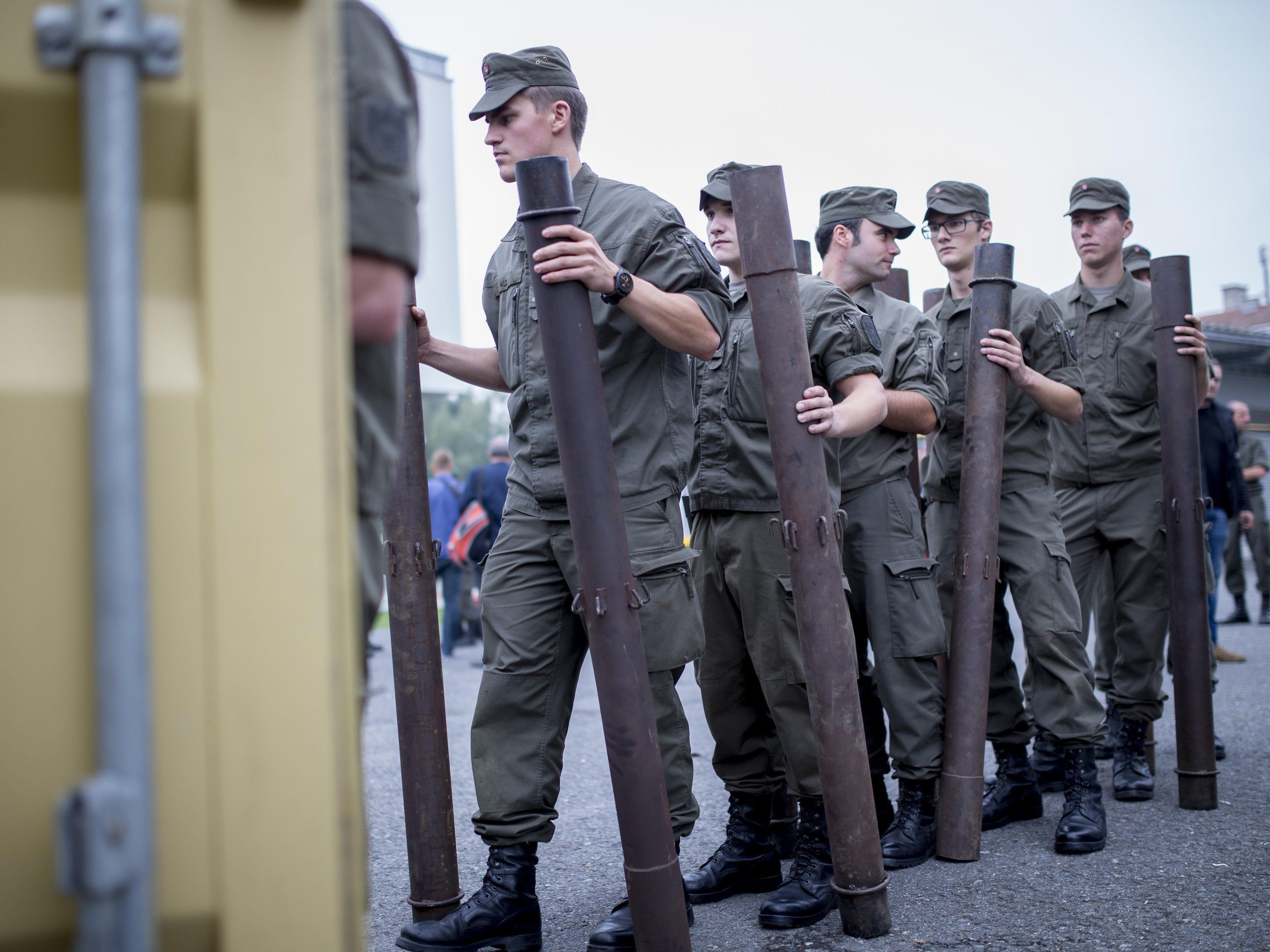 Insgesamt 460 Soldaten in der Steiermark im Einsatz oder in Bereitschaft.