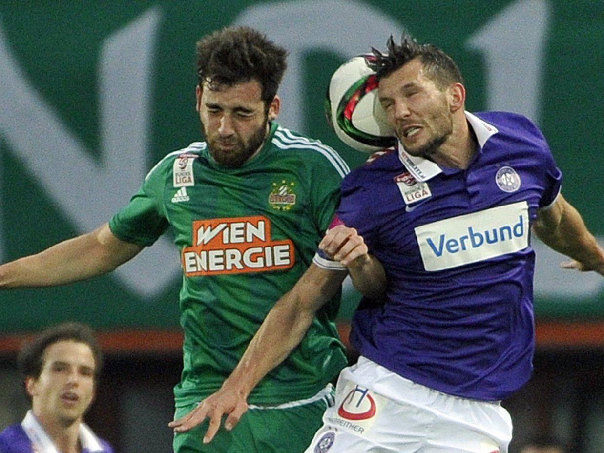 Die Austria hat ihren Erfolgslauf auch gegen Rapid fortgesetzt.