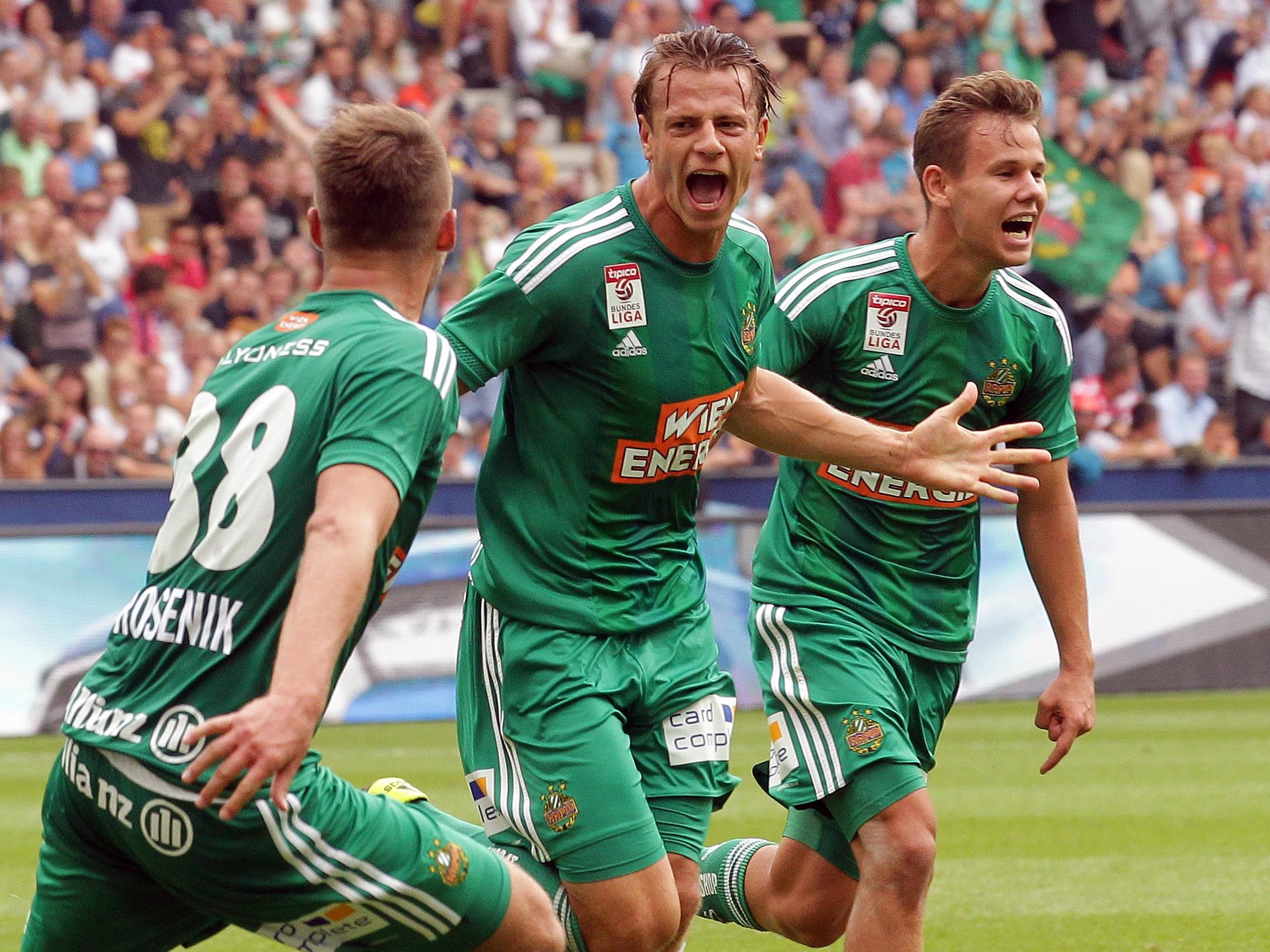 LIVE-Ticker zum Spiel SK Rapid Wien gegen Red Bull Salzburg ab 16.30 Uhr.