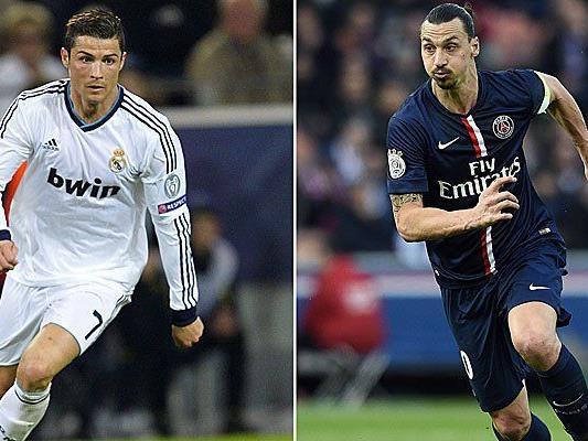 Topstürmer Ibrahimovic bzw. Ronaldo im Fokus.
