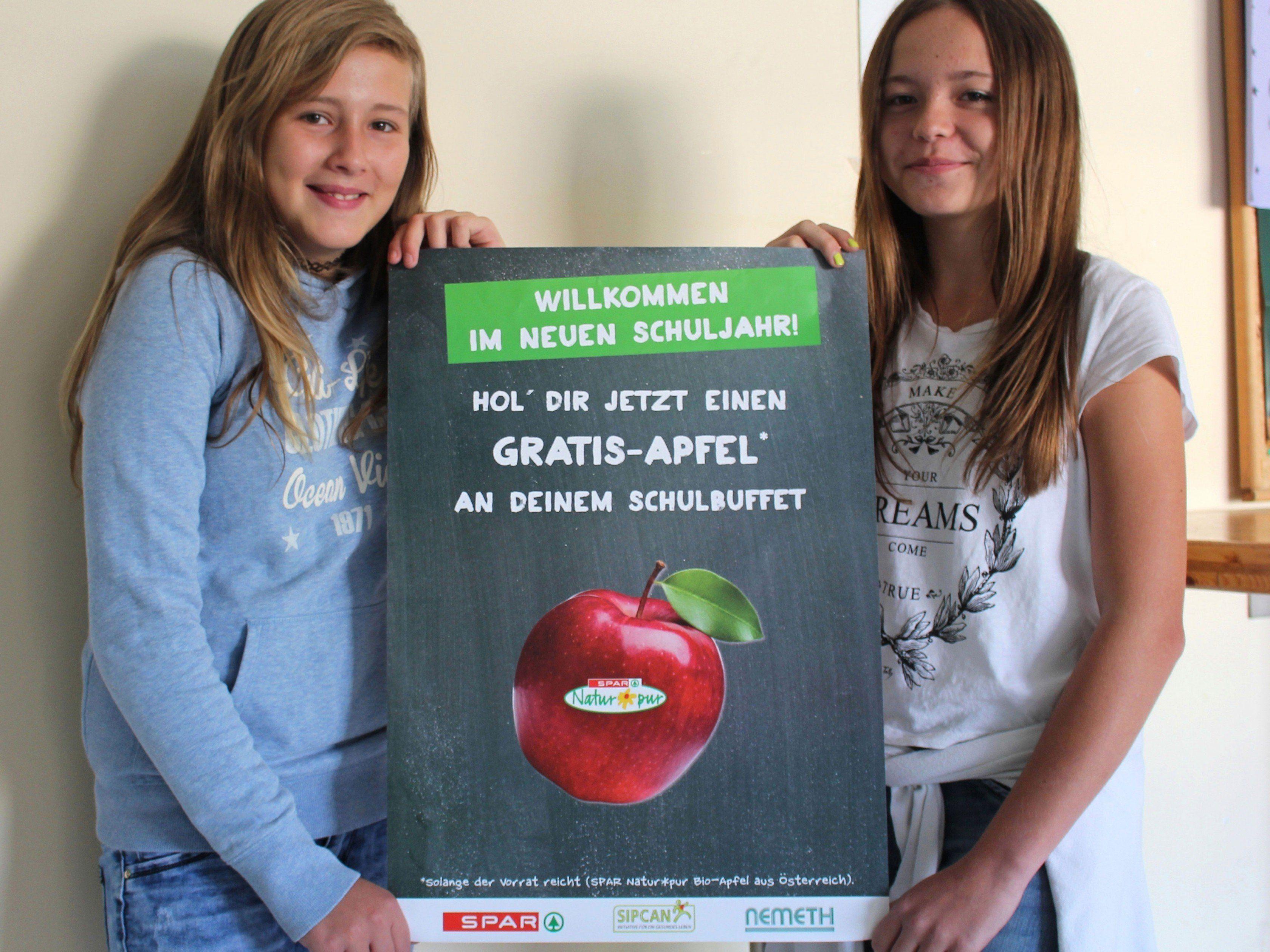 Der gratis Apfel soll Wiens Schüler zu mehr Obstkonsum bewegen.