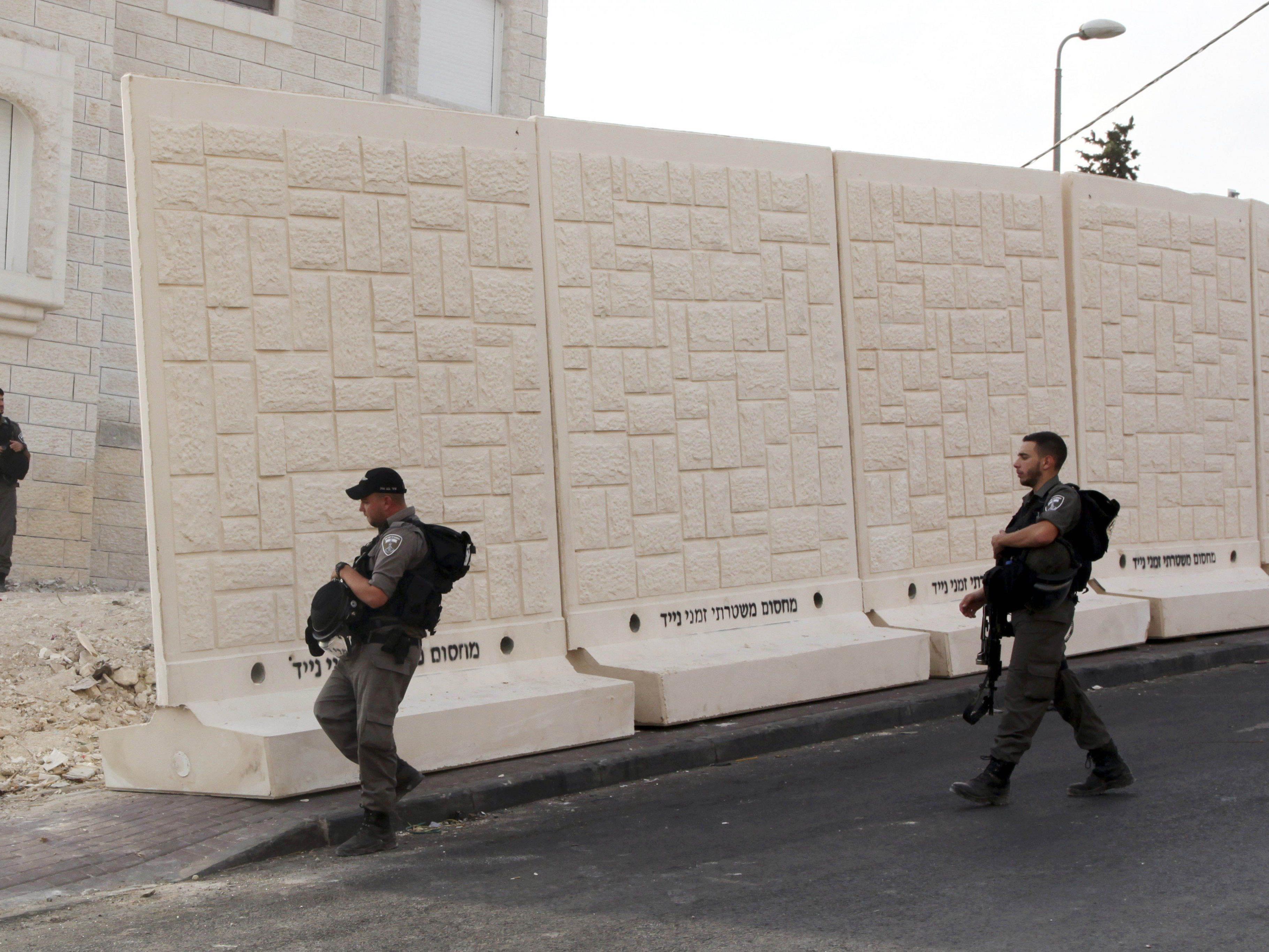 Neue Mauern in Jerusalem
