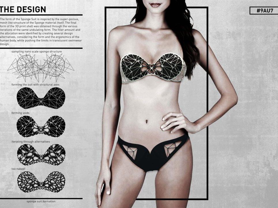 Super-Schwamm: Dieser Bikini saugt Öl auf.