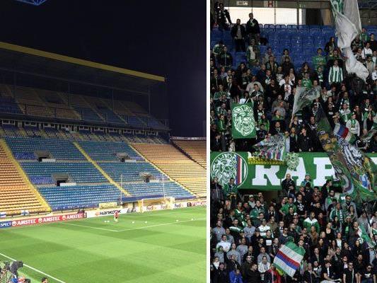 1.700 Rapid-Fans werden die Grün-Weißen gegen Villarreal anfeuern.