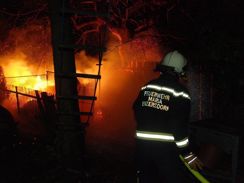 Bild von einem der drei Brände in Mödling.
