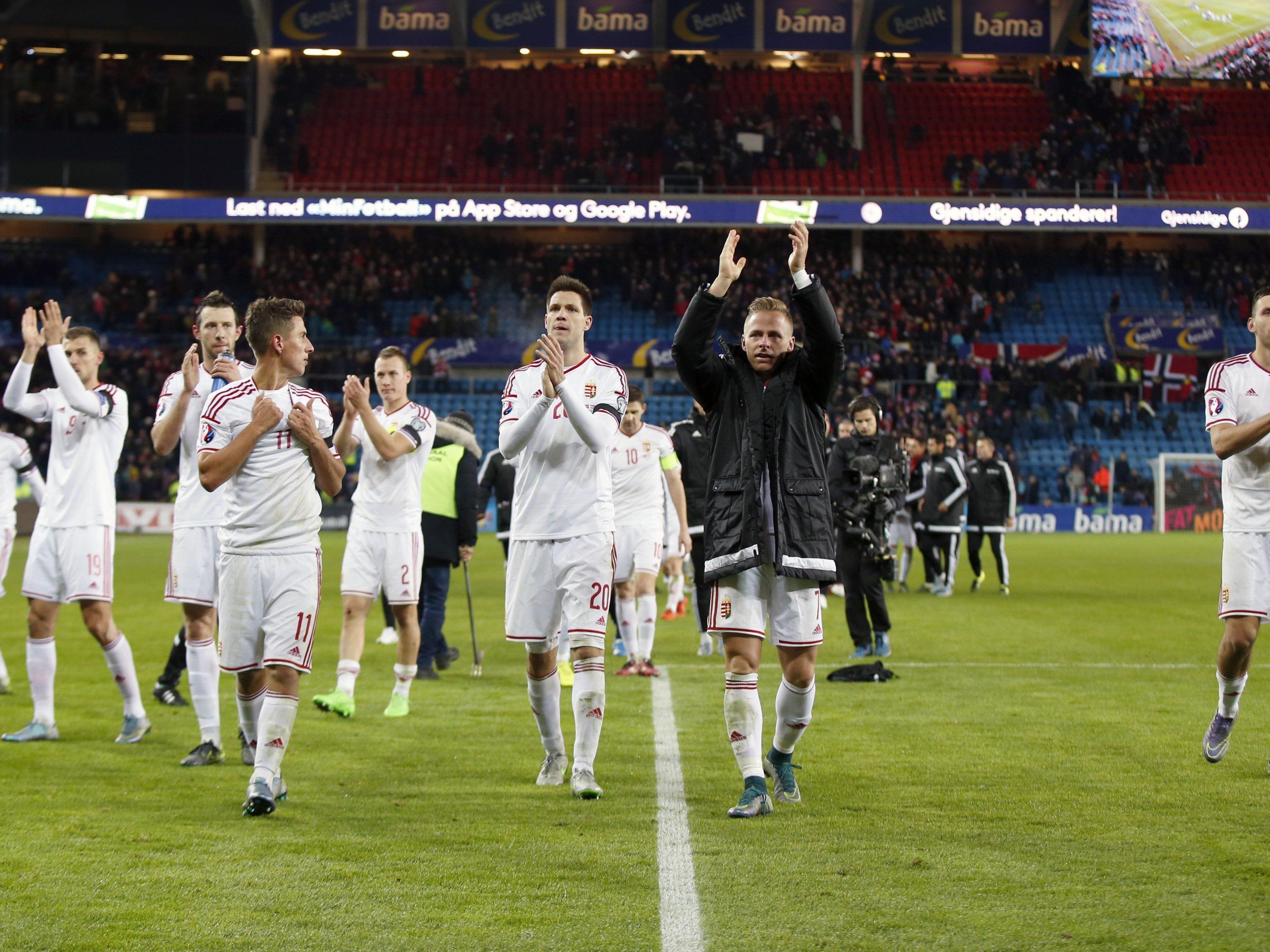 Ungarn setzte sich im Play-Off-Hinspiel mit 1:0 durch.