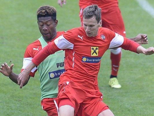 David Alaba (l.) und Florian Klein im Training der ÖFB-Elf.