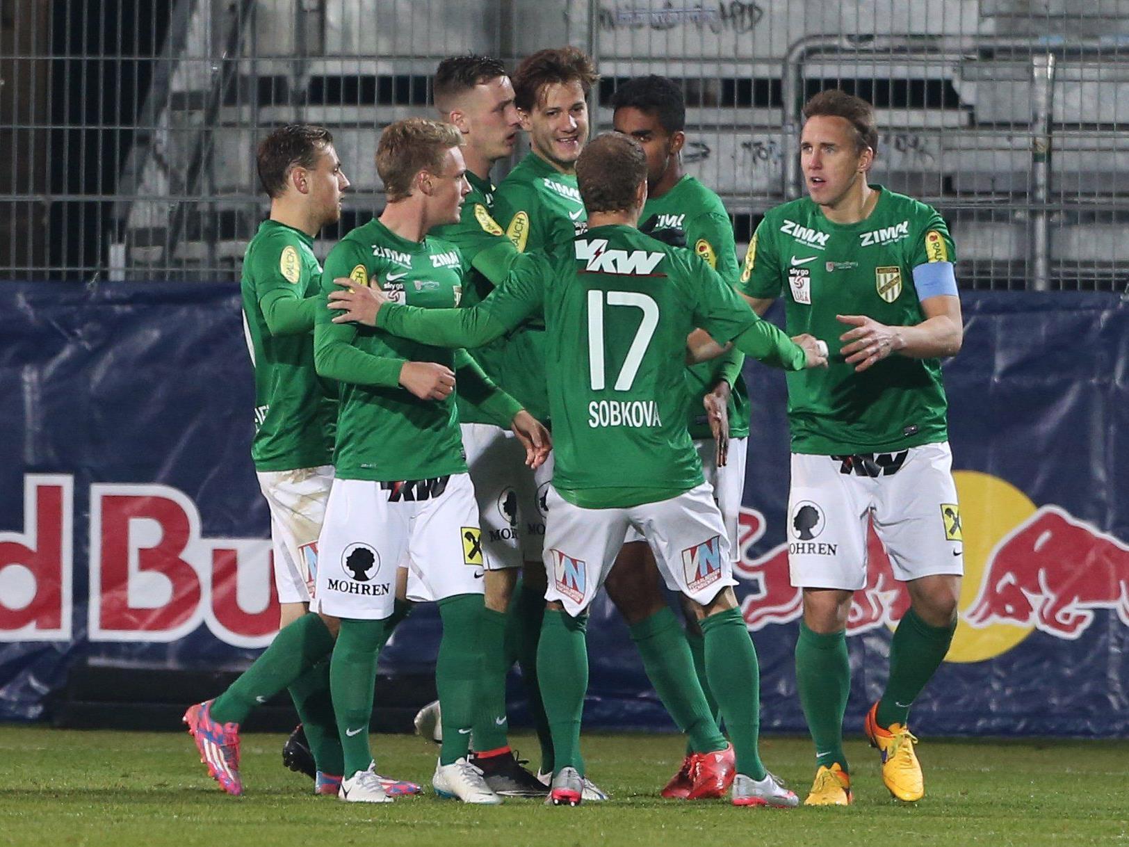 18. Runde in der Ersten Liga: Austria Lustenau gegen Austria Klagenfurt.