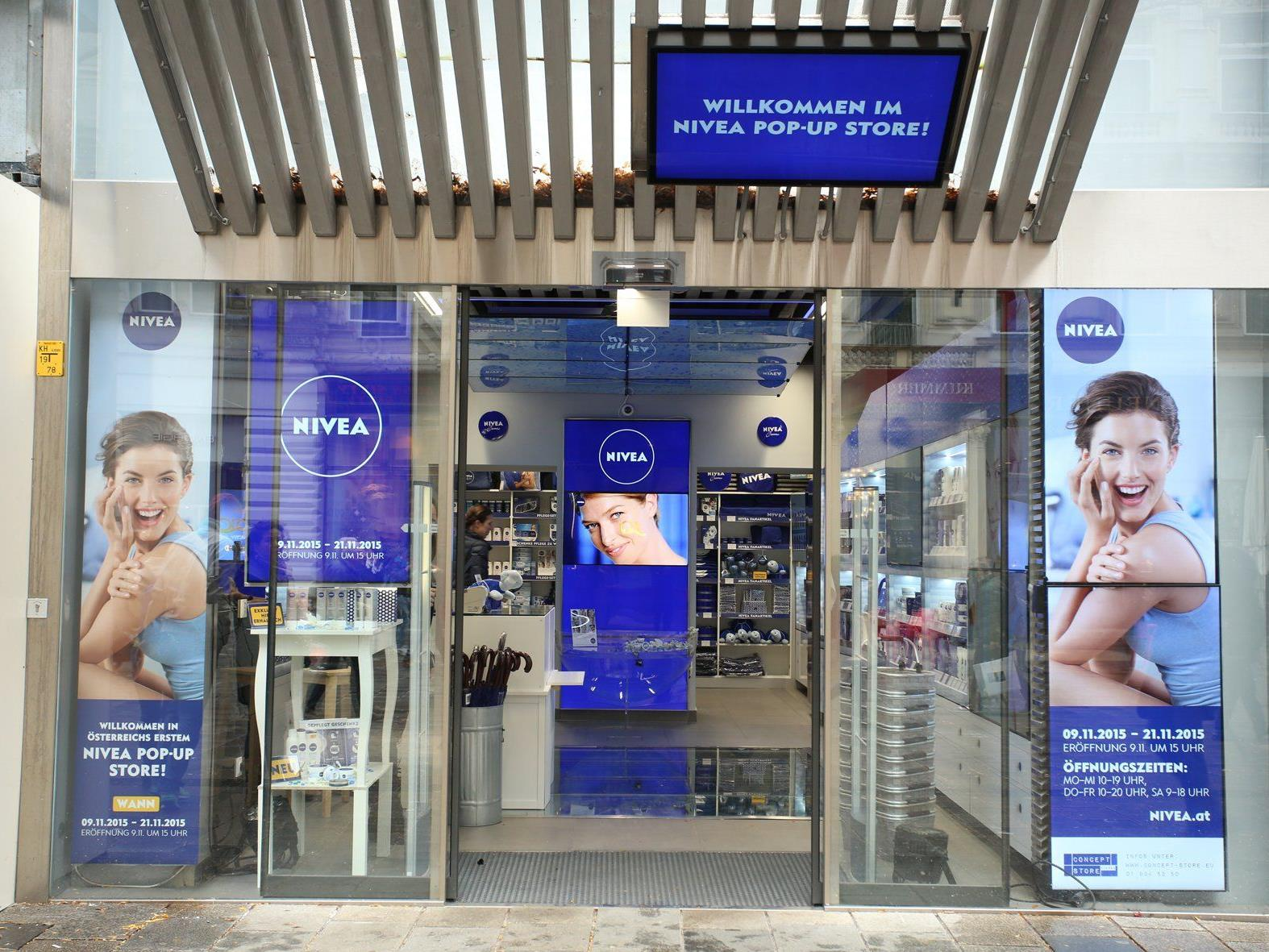 Der Nivea Pop Up-Store eröffnete auf der Mariahilfer Straße.