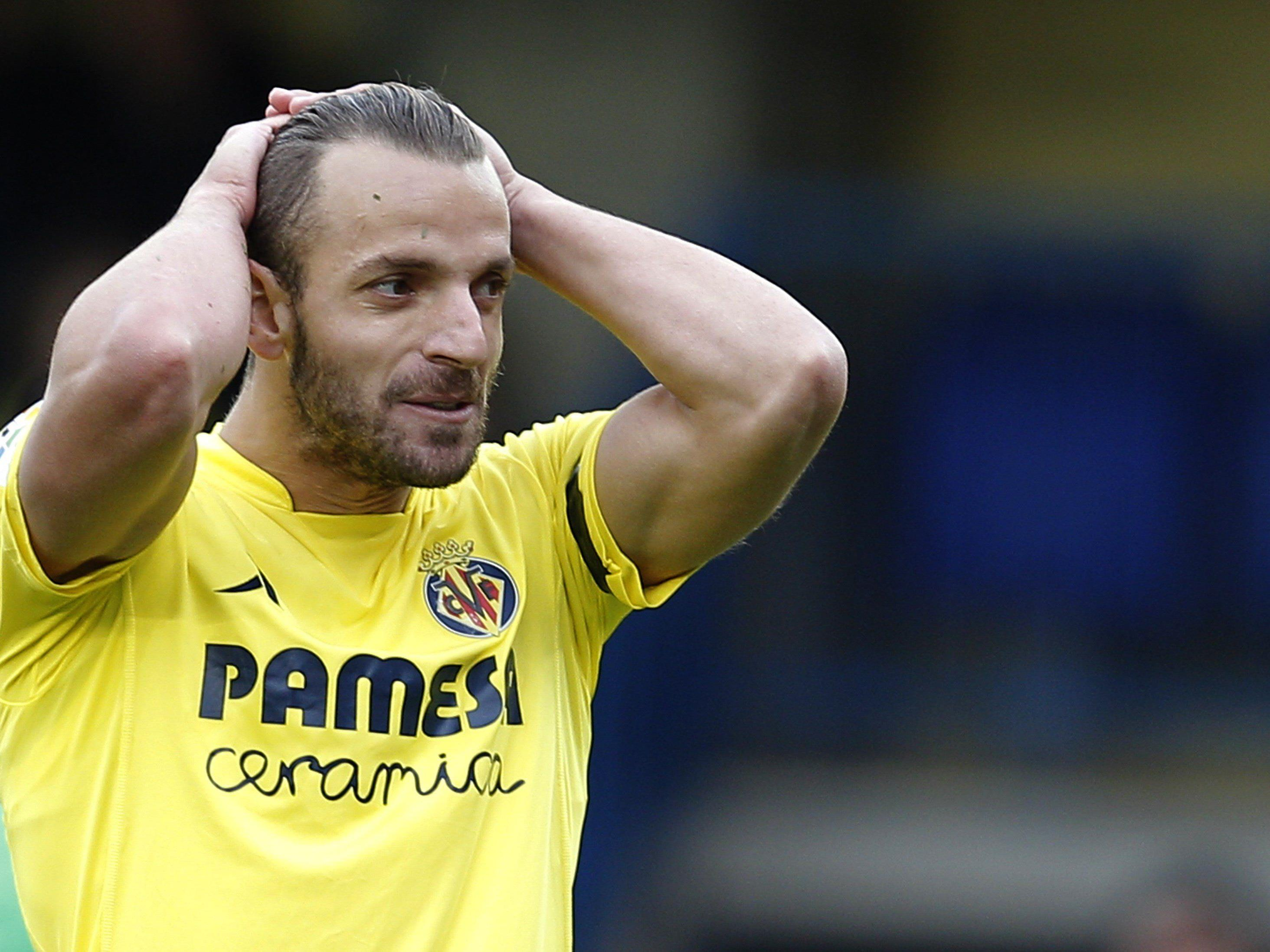 Villarreal-Topstürmer Roberto Soldado ging gegen Eibar leer aus.