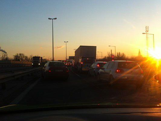 Auf der A23 kam es zu einem Unfall