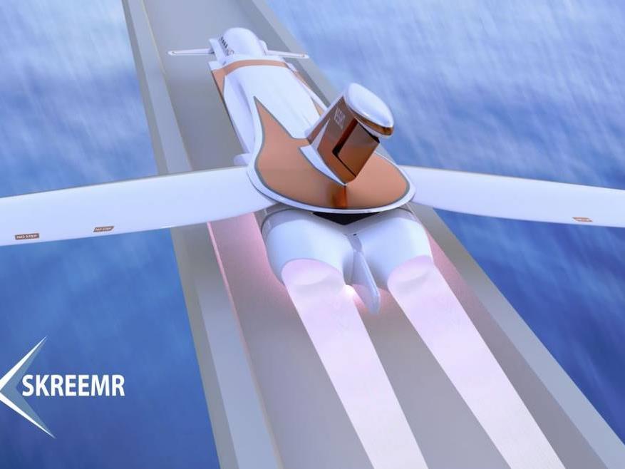 Die Idee zweier Ingenieure: ein Jet, der mit Schallgeschwindigkeit fliegt.