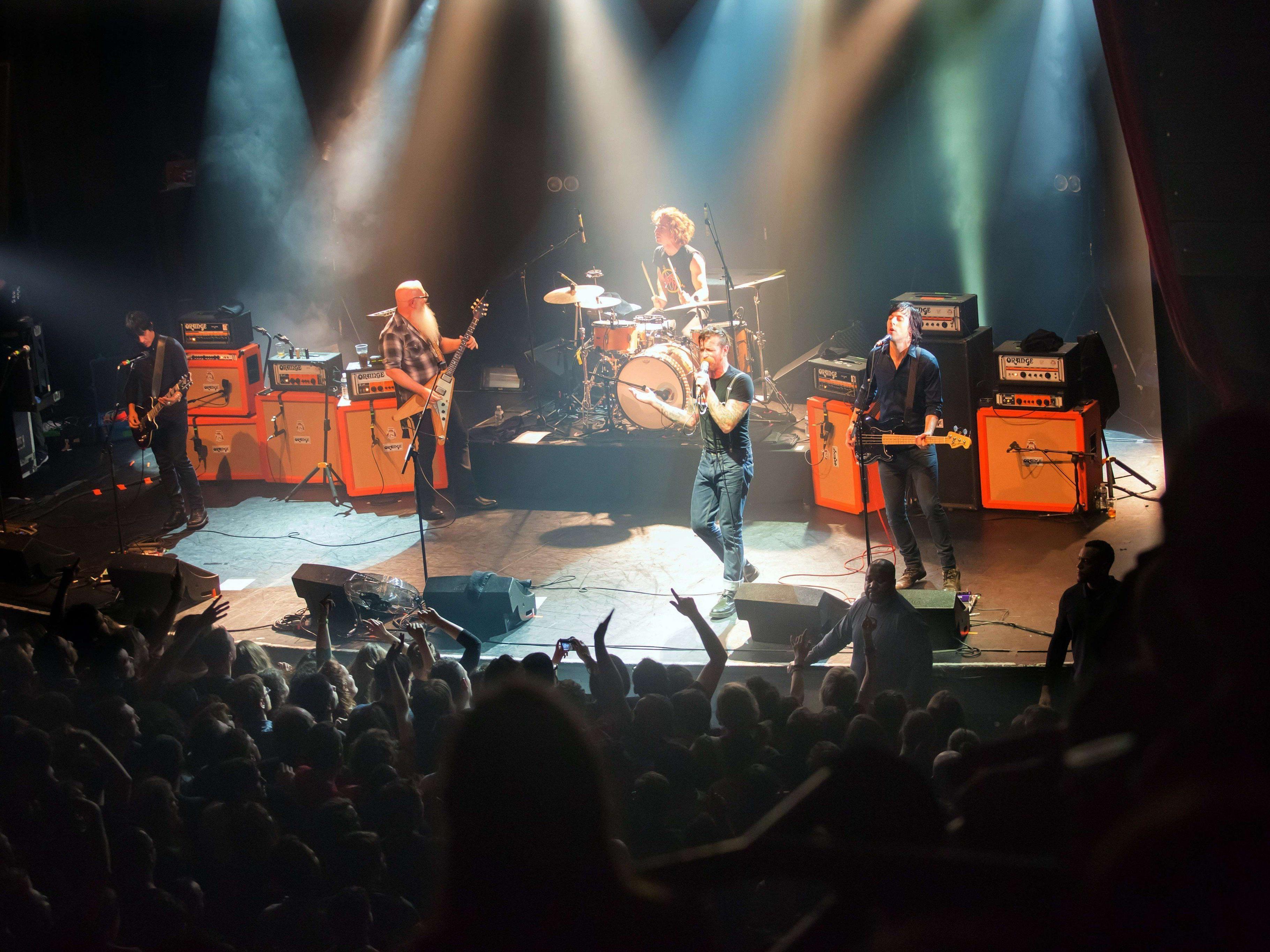 Dieses BIld von der Band Eagles of Death Metal enstand wenige Minuten vor dem Terror-Anschlag in Paris.