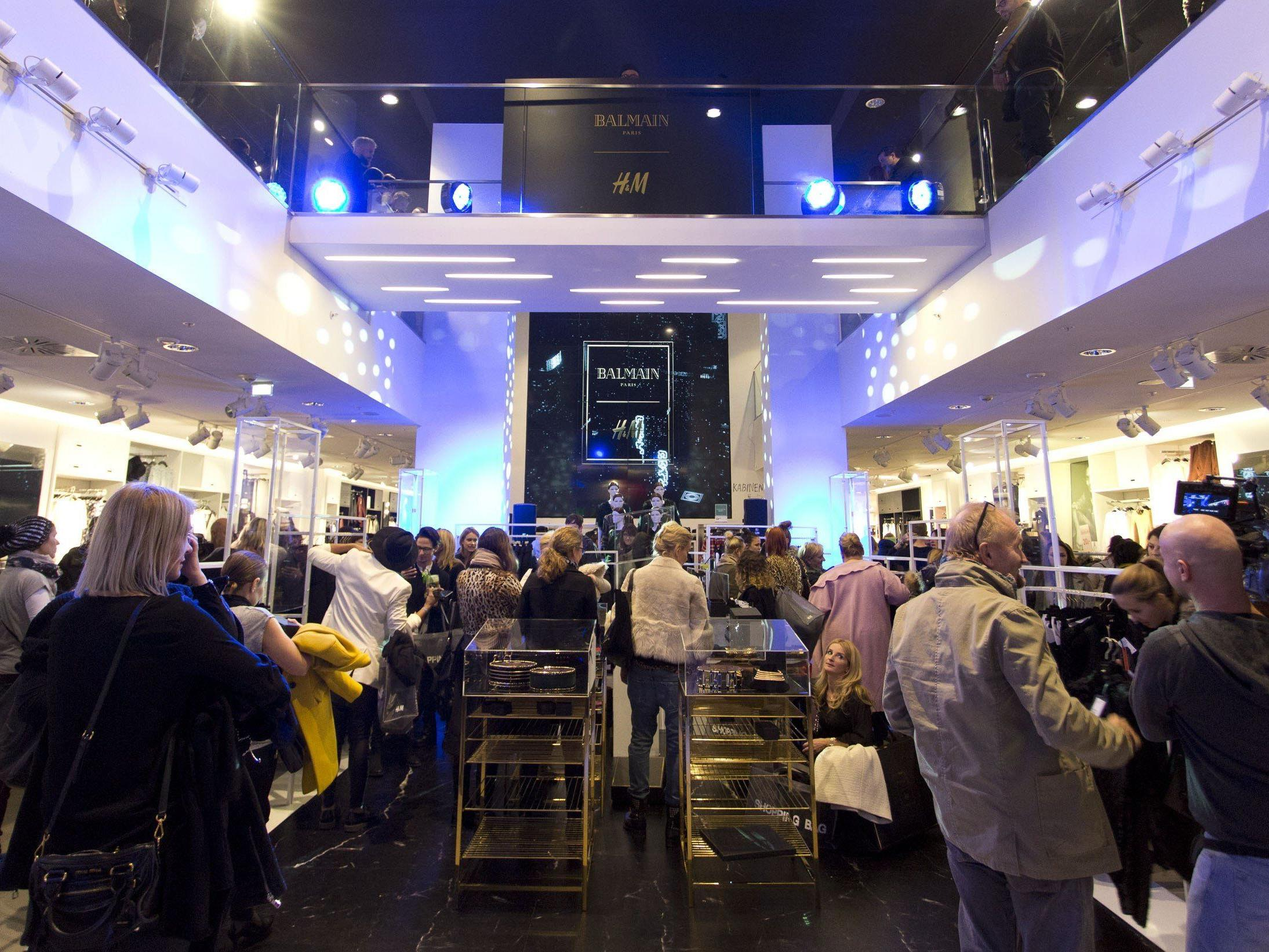 Balmain-Kollektion: Pre-Shopping im H&M Mariahilfer Straße.
