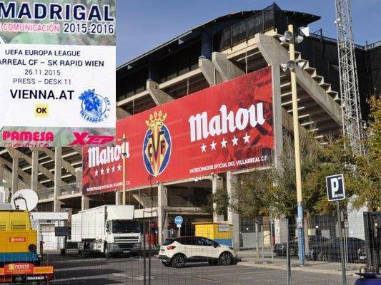 Hier steigt heute das Match zwischen Villarreal und Rapid.